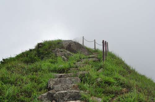 Near Lantau Peak, almost in the clouds