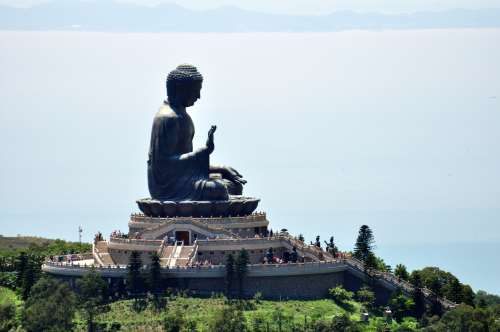 Big Buddha from high above. Can you spot the tourons?