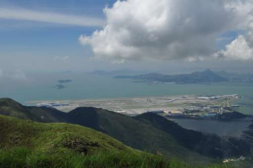 Hong Kong Airport from Lantau Peak