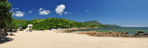 Panorama of Hung Shing Yeh beach
