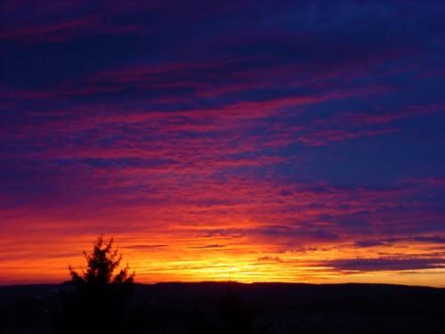 Sunset at Snowshoe ski area