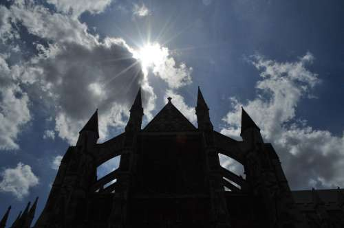 Artistic shot of Westminster Abbey