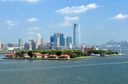Ellis Island, where millions of tired and poor immigrants arrived to turn their fortunes in the United States