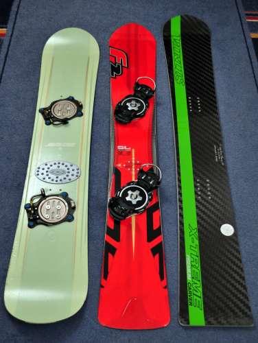 Santa Cruz 148, F2 Speedster SL 158, Virus X-Treme Carver Premium 162