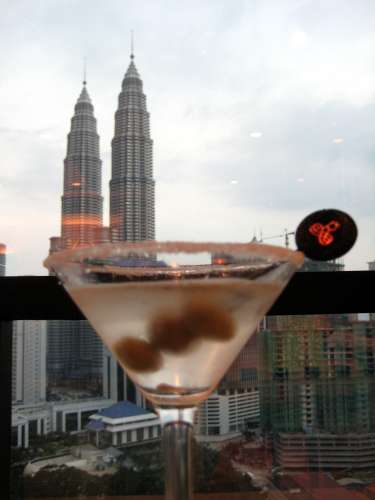 The Petronas Twin Towers from the Renaissance Hotel