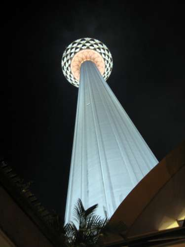 KL Tower at night, home of a rotating restaurant