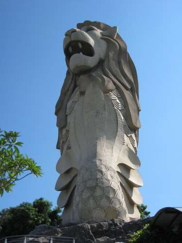The Merlion on Sentosa Island