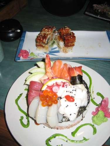 Sushi-sashimi pie