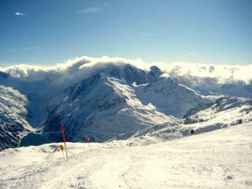 Schlegeis Gletscher view