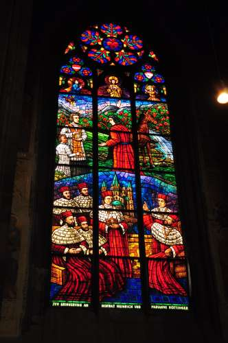 Stained Glass at the Votivkirche