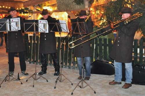 Brass players at the Salzburg Christmas Market