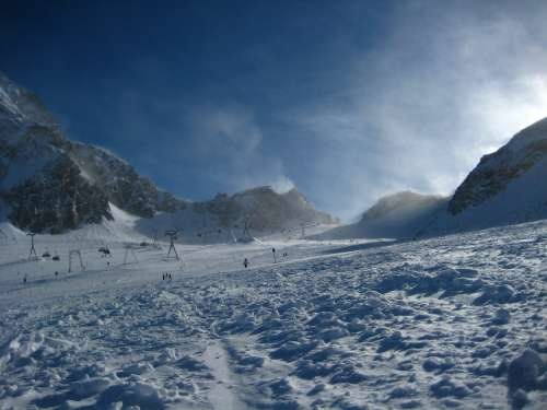 Wind at Stubai glacier