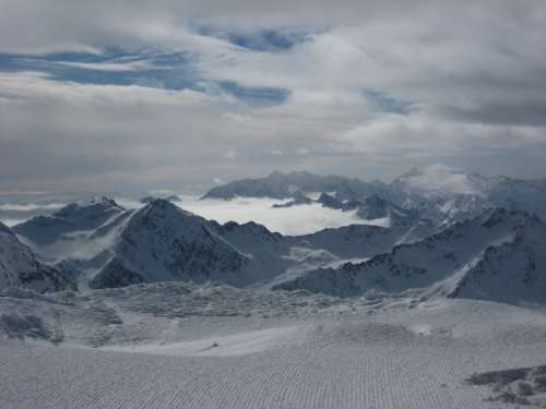 Bowl full of clouds at Stubai
