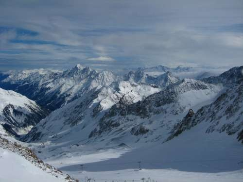 View from Stubai glacier