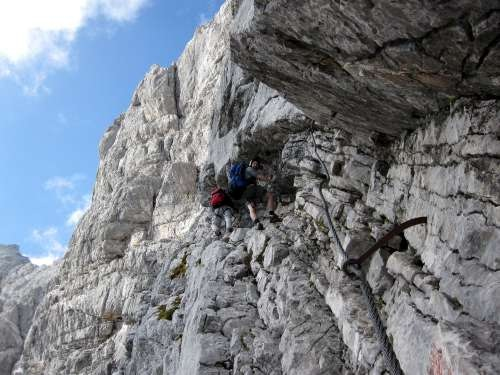 Dave and Bunky climbing Zugspitze