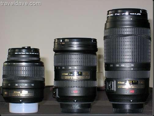 Nikon Lens Comparison 18-55, 18-200, 70-300