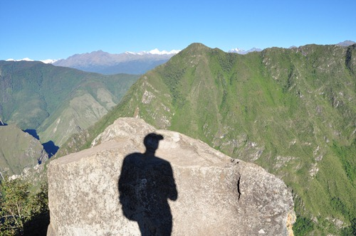 Shadow self-portrait on Wayna Picchu