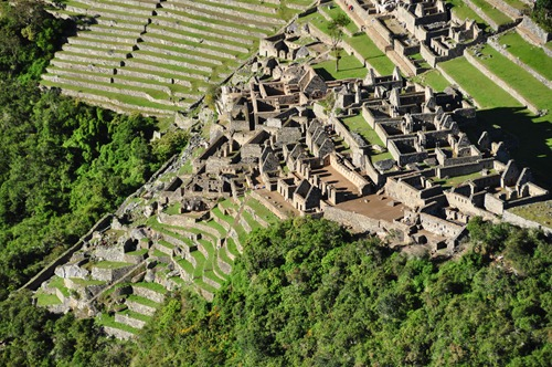 Close-up of one section of Machu Picchu