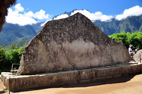 Sacred ritual stone of Machu Picchu