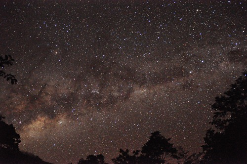 Milky Way over Explorers' Inn in Puerto Maldonado