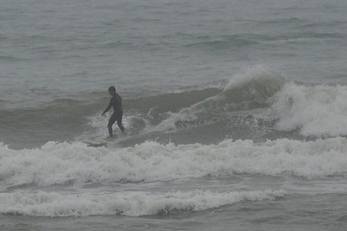Herman surfing in Miraflores
