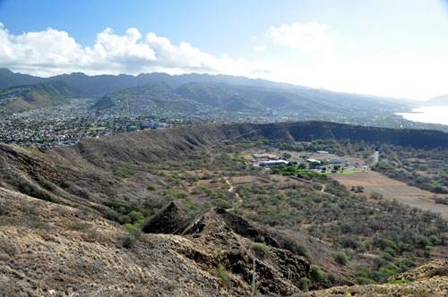 View of Diamond Head crater on Oahu