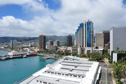 Honolulu as seen from the Aloha Tower
