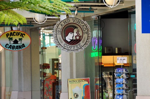 Island Vintage Coffee in the Aloha Tower Marketplace
