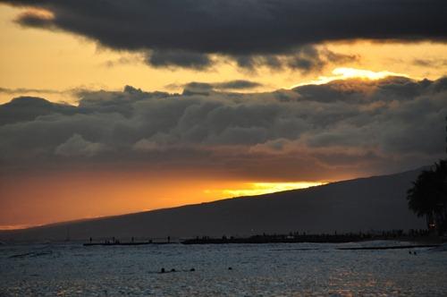 Beautiful Sunset at Waikiki Beach