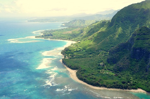 Amazing coastline view on Kauai, Hawaii
