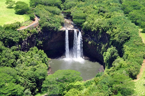 Wailua Falls on Kauai, Hawaii
