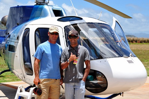 Island Helicopters - photo of my flight crew :-)