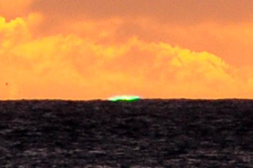 Green Flash over Hanalei Bay, Kauai
