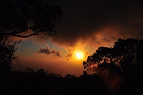 Sunset from Kalalau Lookout in Waimea Canyon, Hawaii