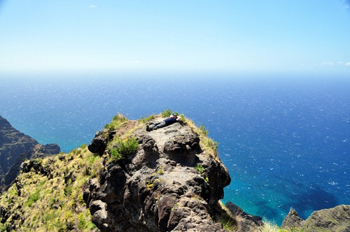 Relaxing on the Kokee Na Pali Overlook trail system