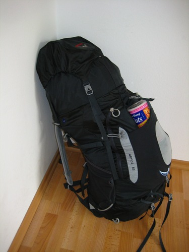 Stuffed Osprey 65L Pack