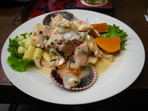 Ceviche at Mama Olla's in Miraflores