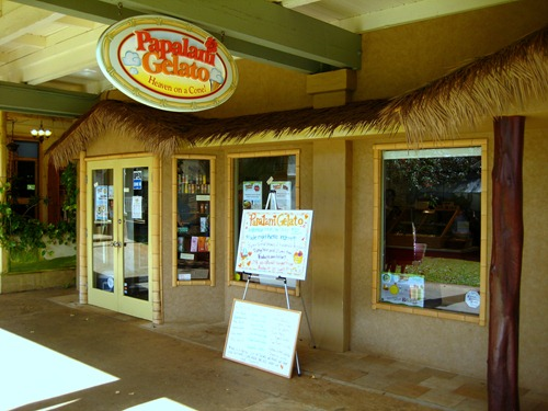 Papalani Gelato in Poipu, Kauai
