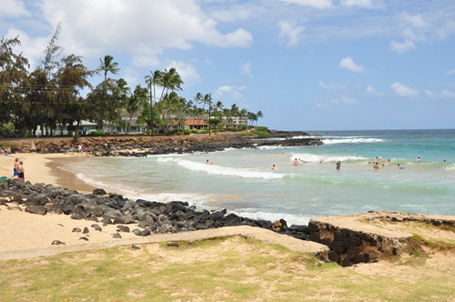 Bodyboarding beach at Poipu