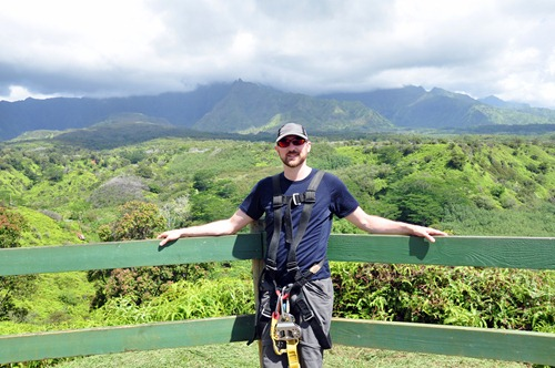 Beautiful view over Kauai Backcountry's zip course