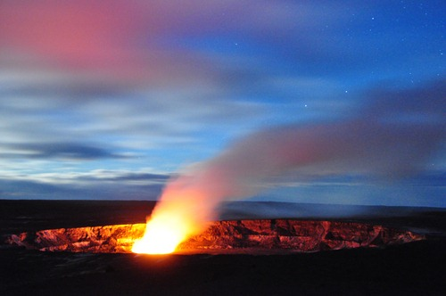 Kilauea at night
