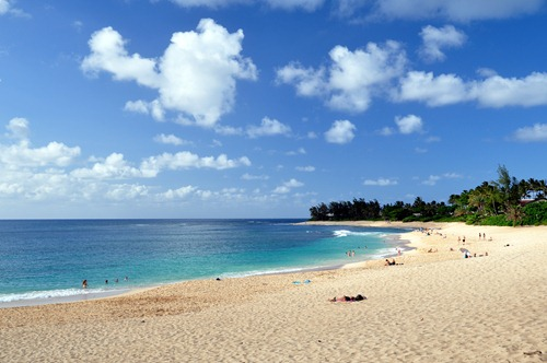 Sunset Beach on Oahu, Hawaii