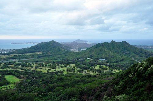 View from the Pali Lookout on Oahu