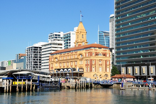 The central ferry terminal in Auckland