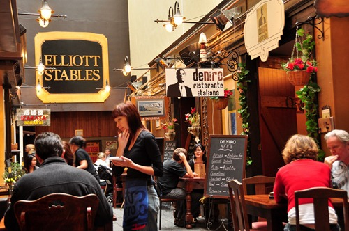 A huge variety of restaurants at Elliott Stables