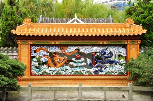 Dragons in the Sydney Chinese Garden