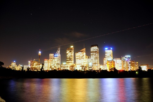Downtown Sydney as seen from Macquarie's Point