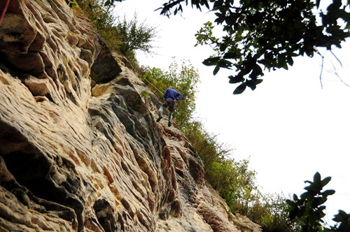 Abseiling with Paul at Green Glow Eco-Adventures