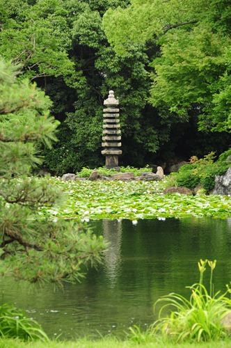 Lake at Shosei-en garden