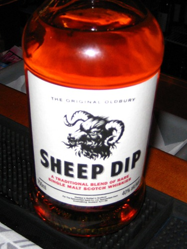 Sheep Dip whisky!